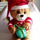"International Silver Company Plush Para Cutes Plush Santa Bear With Present 12"" tall (1992) (GTB1)"