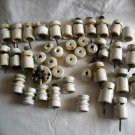 Lot of 40 Vintage Ceramic Porcelain Insulator and one On/Off Switch  (OBS1)