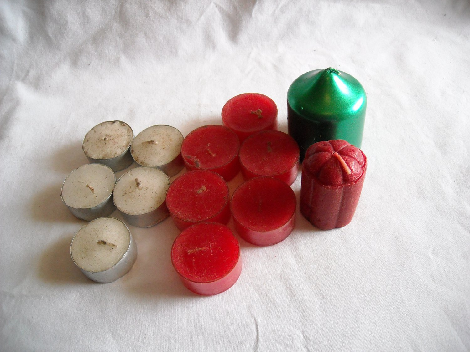 13 Miscellaneous Red, White and Green Votive Candles (CMB3) Home Decor
