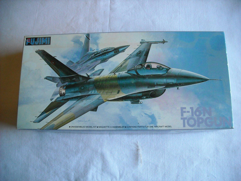 Fujimi 1:72F-16N Topgun TF16N NFWS Unassembled Model Kit E-6 No. 24006 (1987) (mw)
