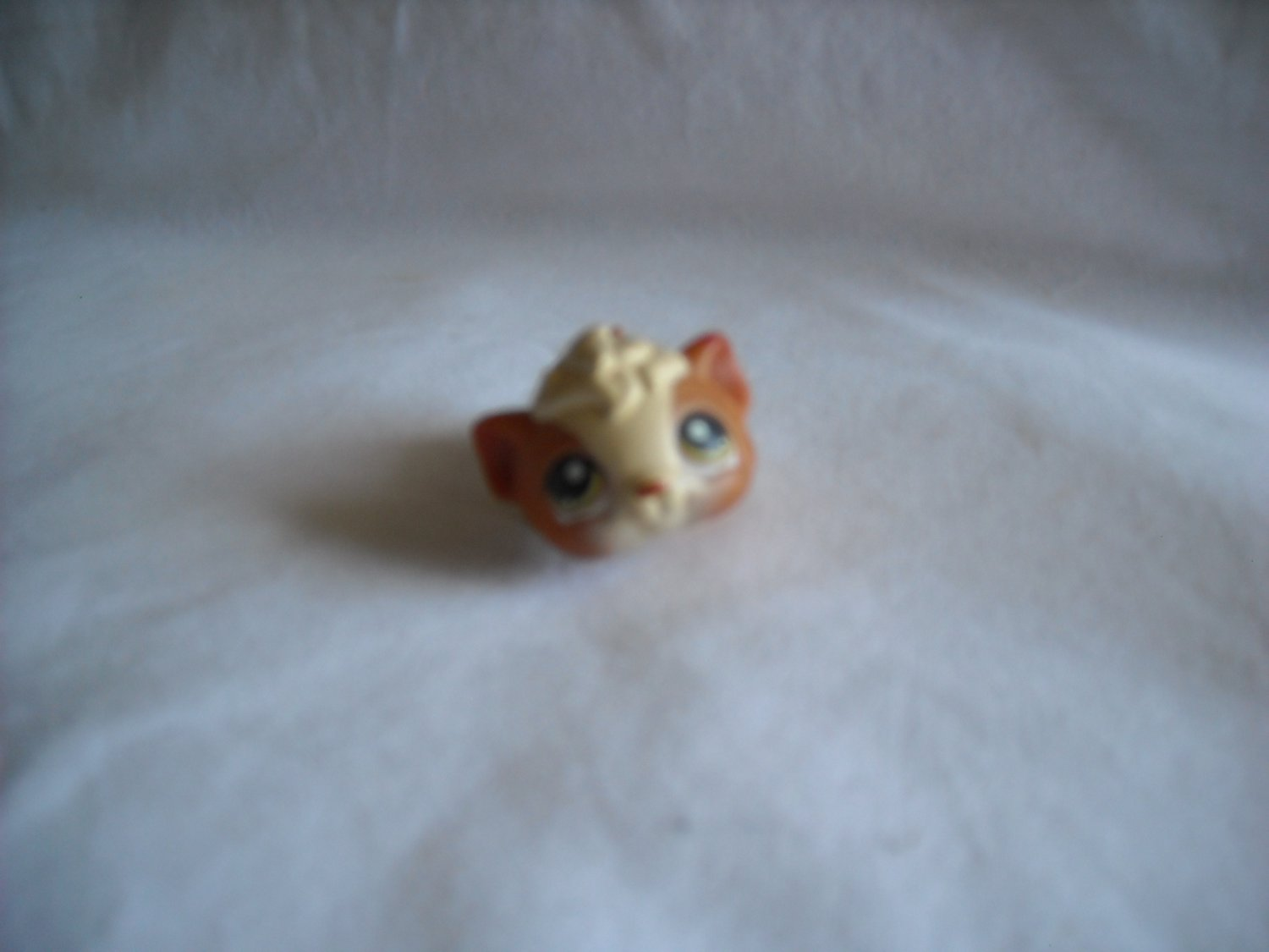 2005 Hasbro Littlest Pet Shop Retired Guinea Pig #213 Brown and Cream with Green Eyes (GTB1)
