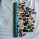 Lot of 100 Assorted Buttons Assorted Sizes and Styles Great for Crafts (WTNM17)
