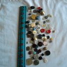 Lot of 100 Assorted Buttons Assorted Sizes and Styles Great for Crafts (WTNM18)
