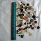 Lot of 100 Assorted Buttons Assorted Sizes and Styles Great for Crafts (WTNM29)