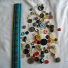 Lot of 100 Assorted Buttons Assorted Sizes and Styles Great for Crafts (WTNM32)