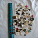 Lot of 100 Assorted Buttons Assorted Sizes and Styles Great for Crafts (WTNM39)