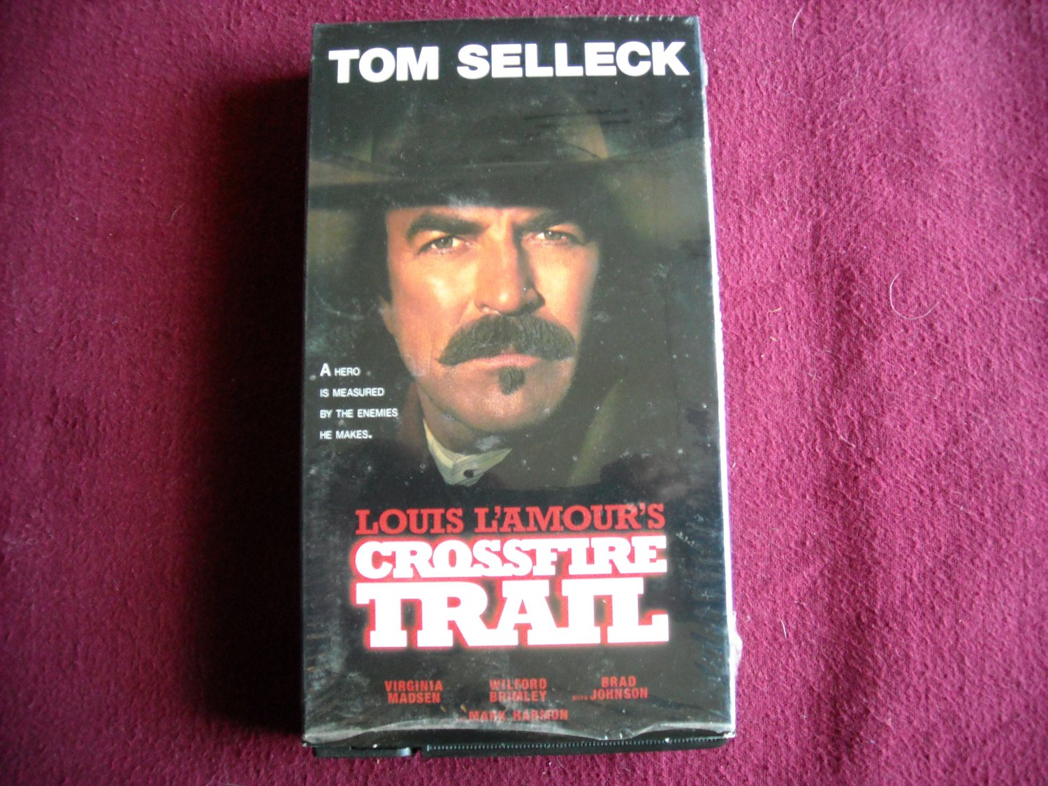 Crossfire Trail VHS Tom Selleck / Virginia Madsen / Mark Harmon (2001) NR