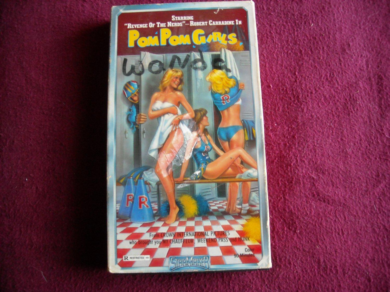 Pom Pom Girls Robert Carradine / Jennifer Ashley VHS (1989) Starmaker Entertainment R