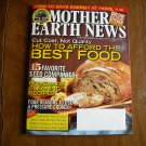 Mother Earth News How to Afford the Best Food December 2011 / January 2012 Issue 249 (G2)