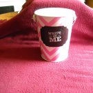 Write On Me White and Pink Pen Holder with Handle (wb1)