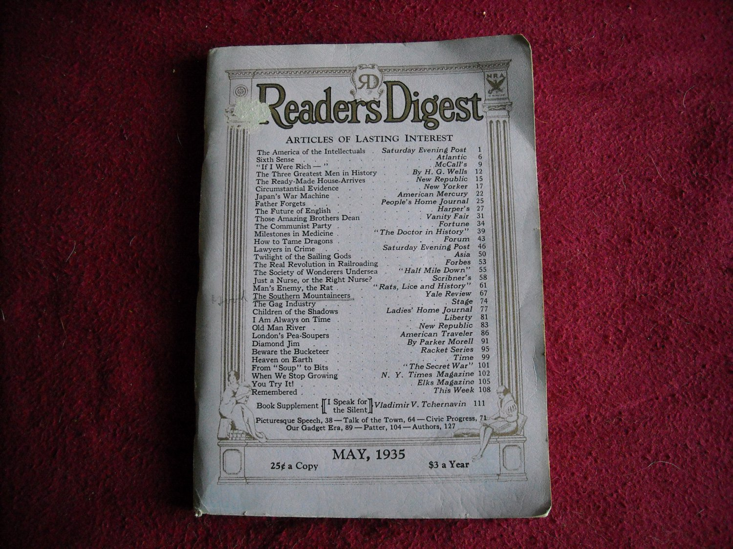 Reader's Digest Magazine May 1935 Vol 26 No 159 (G2