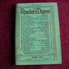 Reader's Digest Magazine April 1938 Vol 32 No 192 (G2)