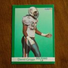 David Griggs Dolphins LB Card No. 122 - 1991 Fleer Football Card
