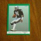 Mervyn Fernandez Raiders WR Card No. 106 - 1991 Fleer Football Card
