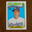 Orel Hershiser All Star National League Pitcher Card No. 394 - 1989 Topps Baseball Card