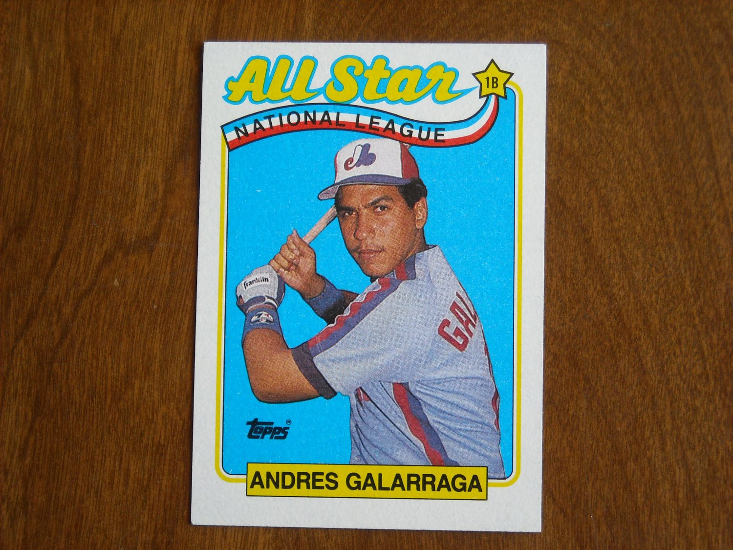 Andres Galarraga All Star National League Montreal Expos 386 1989