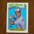 Andres Galarraga All Star National League 1B Card No. 386 - 1989 Topps Baseball Card