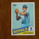 Mark Gubicza Royals P Card No. 127 - 1985 Topps Baseball Card