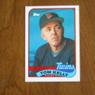 Tom Kelly Twins Manager Manager Card No. 14 - 1989 Topps Baseball Card
