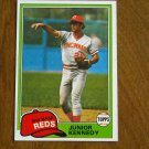 Junior Kennedy Reds 2nd Base Card No. 447 - 1981 Topps Baseball Card