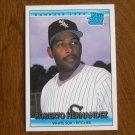 Roberto Hernandez White Sox Pitcher Rated Rookie Card No. 19 - Donruss 1992 Baseball Card