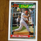 Scott Hatteberg Boston Red Sox Draft Pick C Card No. 734 - Topps 1992 Baseball Card