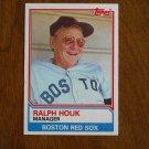 Ralph Houk Manager Boston Red Sox Card No. 786 - Topps 1983 Baseball Card