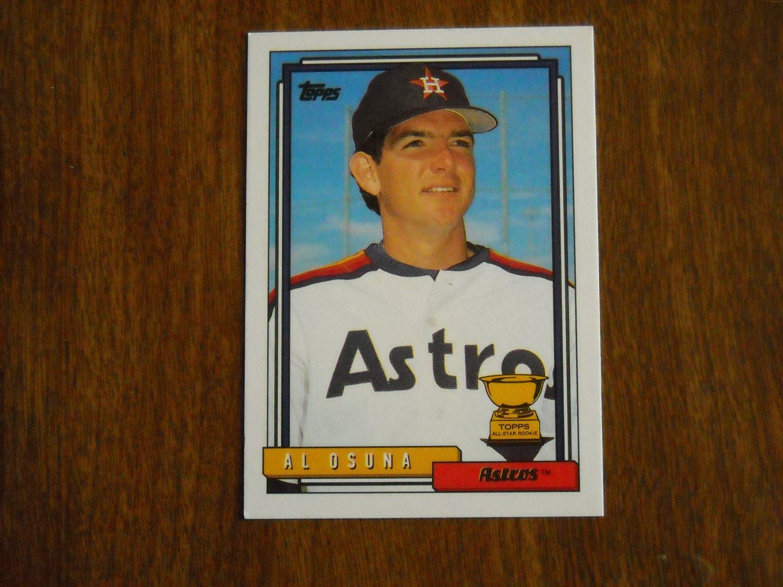 Al Osuna Astros P All Star Rookie Card No. 614 - Topps 1992 Baseball Card