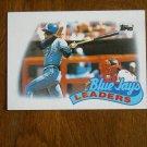 1988 Toronto Blue Jays Batting Pitching Team Leaders Card No 201 - 1989 Baseball Card