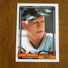 Sparky Anderson Tigers Manager Card No 381 - 1992 Topps Baseball Card