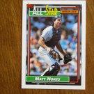 Matt Nokes All Star American League Catcher Card No 404 - 1992 Topps Baseball Card