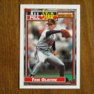 Tom Glavine All Star National League Pitcher Card No 395 - 1992 Topps Baseball Card