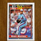 Denny Martinez All Star National League Pitcher Card No 394 - 1992 Topps Baseball Card