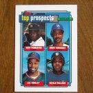 Top Prospects Card No 656 Pemberton, Rodriguez, Tinsley Williams - 1992 Topps Baseball Card