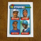 Top Prospects Card No 618 Hernandez, Hosey, Peltier, McNeely - 1992 Topps Baseball Card