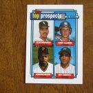 Top Prospects Card No. 179 Bernhardt, DeJardin, Moreno, Stankiewicz - 1992 Topps Baseball Card