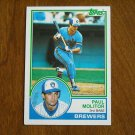 Paul Molitor 3rd Base Brewers Card No 630 - 1983 Topps Baseball Card