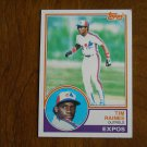 Tim Raines Outfield Expos Card No 595 - 1983 Topps Baseball Card
