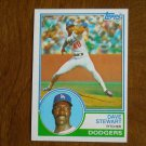Dave Stewart Pitcher Dodgers Card No 532 - 1983 Topps Baseball Card