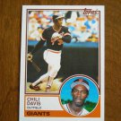 Chili Davis Outfield Giants Card No 115 - 1983 Topps Baseball Card