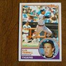Alan Trammell Shortstop Tigers Card No 95 - 1983 Topps Baseball Card