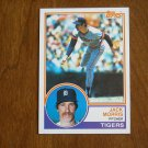 Jack Morris Pitcher Tigers Card No 65 - 1983 Topps Baseball Card