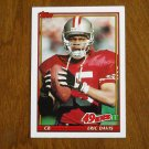 Eric Davis San Francisco 49ers CB Card No 79 - 1991 Topps Football Card