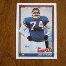 Erik Howard New York Giants NT Card No 33 - 1991 Topps Football Card