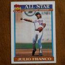 Julio Franco Texas Rangers 1990 American League Leaders Card No. 387 - 1991 Topps Baseball Card