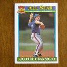 John Franco All Star National League Pitcher New York Mets Card No 407 - 1991 Topps Baseball Card
