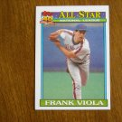 Frank Viola All Star National League Pitcher New York Mets Card No 406 - 1991 Topps Baseball Card