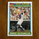 Mike Scioscia Los Angeles Dodgers All Star Catcher Card No 404 - 1991 Topps Baseball Card
