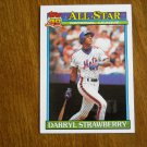 Darryl Strawberry New York Mets Outfielder National League Card No 402 - 1991 Topps Baseball Card