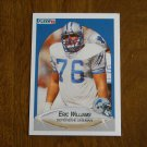 Eric Williams Detroit Lions Defensive Lineman Card No. 287 - 1990 Fleer Football Card